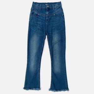 BDG High Rise Seam Flare Jeans Cut Raw Hems 26